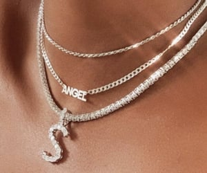 angel, diamonds, and necklace image