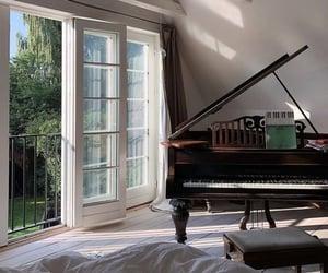home, interior, and piano image