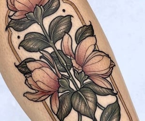 art, body art, and colored tattoo image