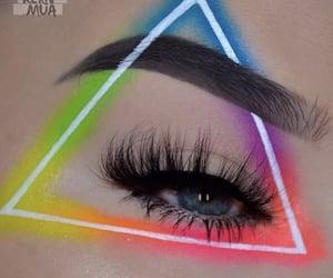 eyebrows, makeup, and neon makeup image