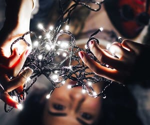 lights, girl, and beautiful image