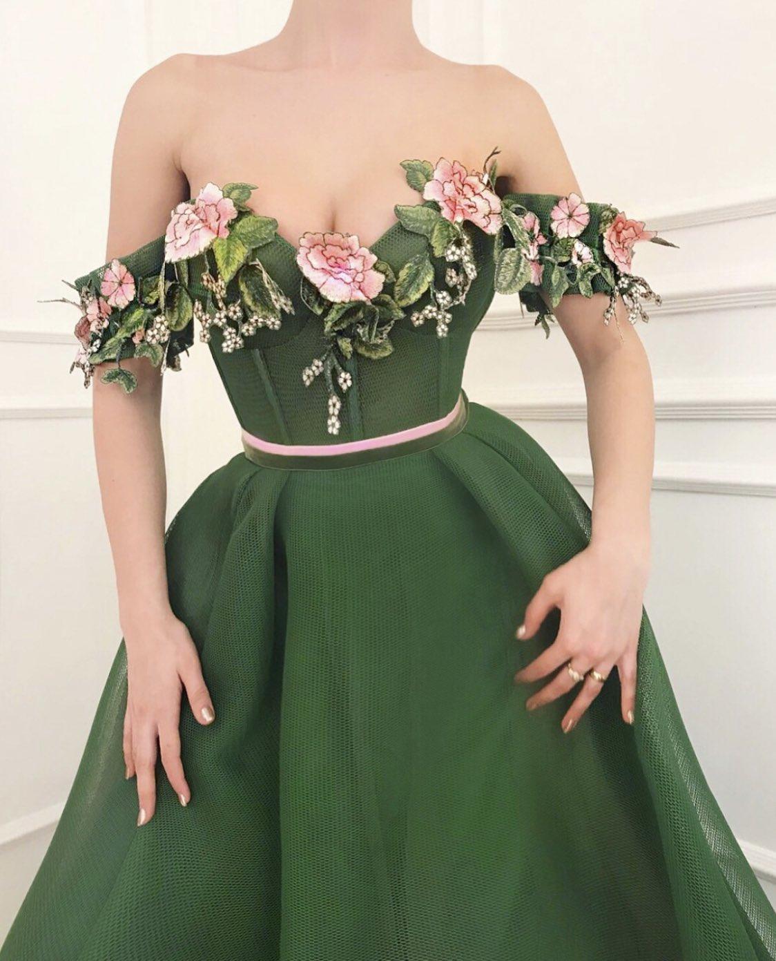 dress, green, and fashion image
