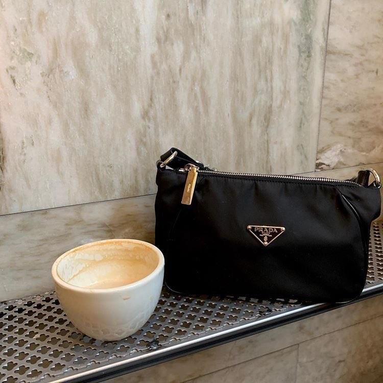 coffee, bag, and Prada image