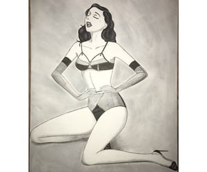 art, draw, and sexy woman image