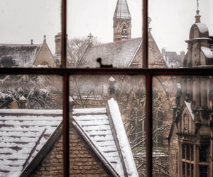 snow, winter, and architecture image