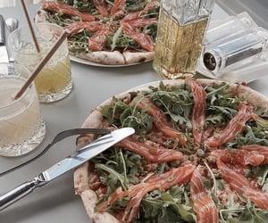 food, pizza, and smoked salmon image