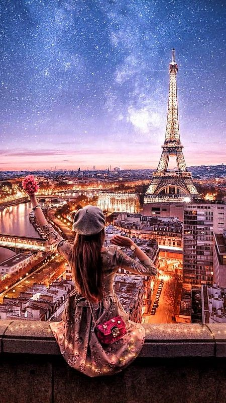 eiffel tower, europe, and evening image
