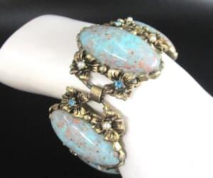 rhinestone, turquoise bracelet, and wedding bracelet image