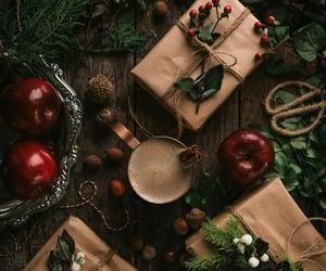 christmas, apple, and gifts image