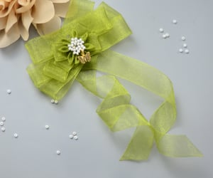 organza, beautiful, and hairpin image