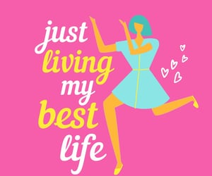 bright pink, happy, and celebrate life image