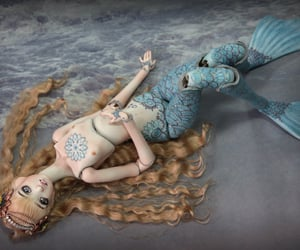 art, sea creature, and ball joint doll image