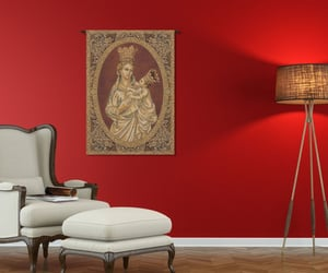 wall art, belgian tapestry, and wall hanging image