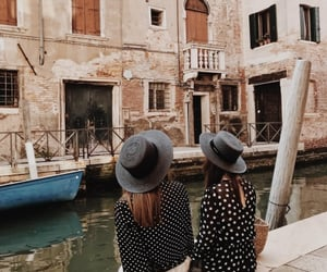 girls, italy, and travel image