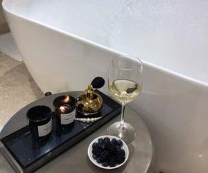 drink, wine, and bath image