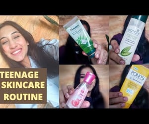 teenagers, skin care routine, and skincare image