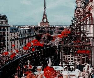 floral, paris, and theme image