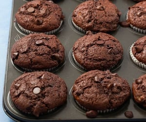 chocolate, chocolate chips, and food image