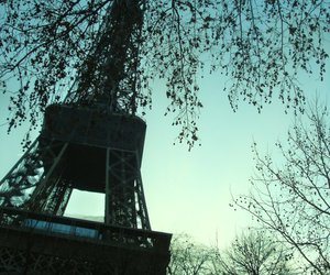 blue, eiffel tower, and shadow image
