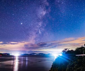 japan, milky way, and nature image