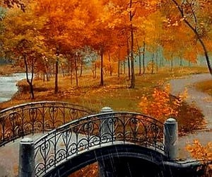 aesthetics, orange colour, and autumn season image
