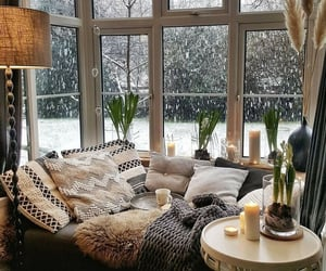 winter, cozy, and plants image