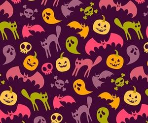 bat, pumpkin, and cobweb image