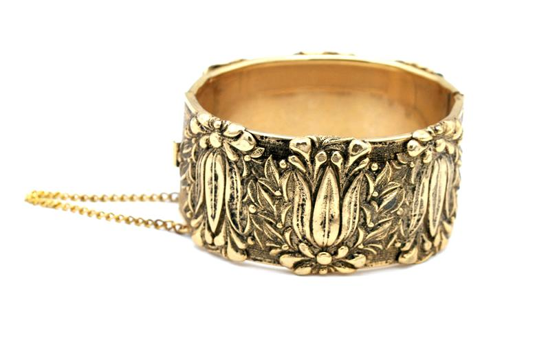 etsy, gold bangle, and gold plated image