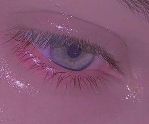 eye and pink aesthetic image