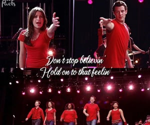 glee, glee cast, and don't stop believing image