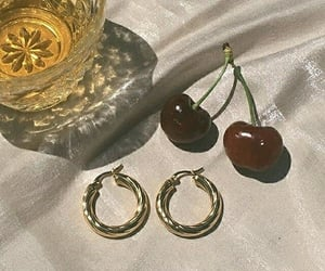 cherry, earrings, and aesthetic image