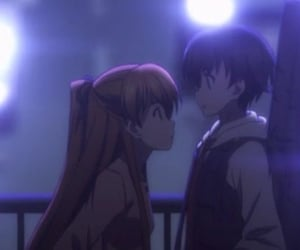 anime, banner, and couple image