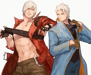 Dante, devil may cry, and vergil image