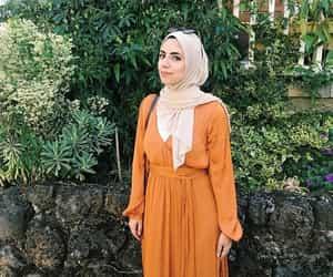 dress, fashion, and hijab image
