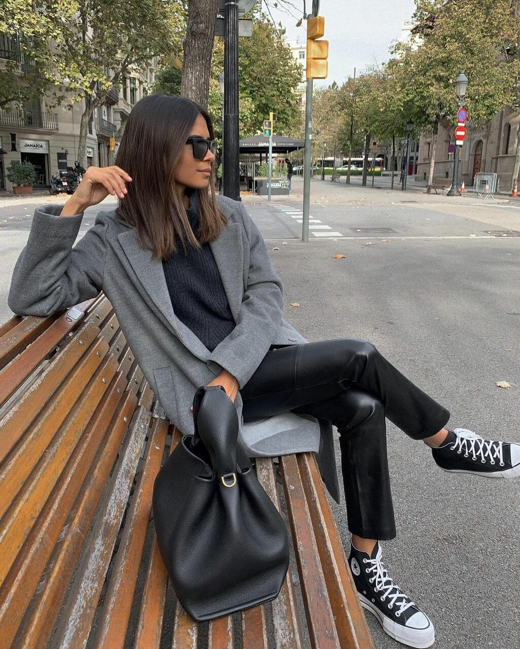 black converse, blogger, and converse all star image