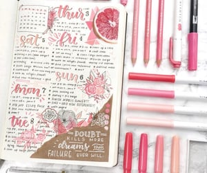journal, pink, and bullet journal image