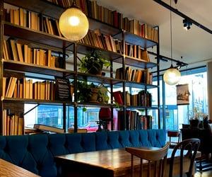 arabic, books, and coffee shop image