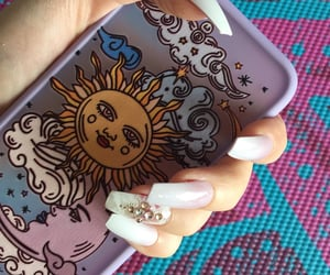lavender, nails, and iphone cover image