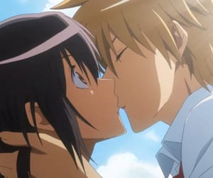 anime, kiss, and kaichou wa maid-sama image
