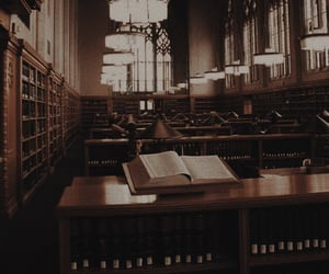 aesthetic, books, and library image