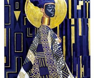 art, golden, and Ilustration image