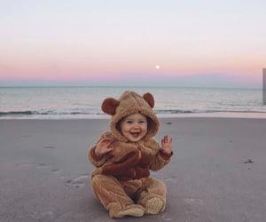 baby, beach, and girl image