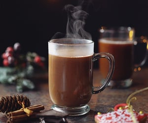 gif, christmas, and coffee image