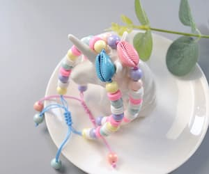 jewelry making, candy colored, and shell bracelet image