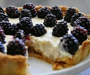 food, cake, and blackberry image