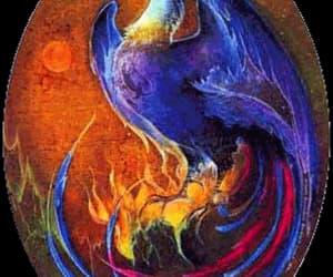 messenger, phoenix, and mythological image
