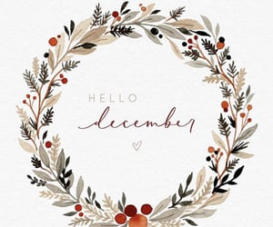 art, december, and hand lettering image