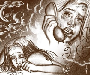 art, chicano, and crybaby image