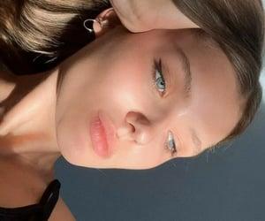 beautiful, blue, and lips image