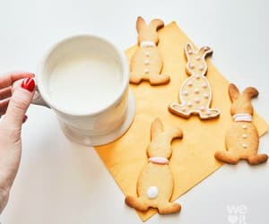cookie, drink, and milk image